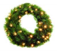 Триумф венок Лесная Красавица 45 см 48 ламп зеленая