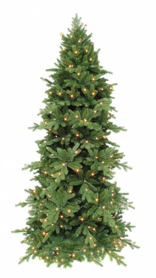 Искусственная сосна Изумрудная 155 см 120 ламп зеленая