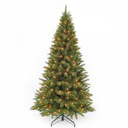 Искусственная елка Лесная Красавица стройная 185 см 168 ламп зеленая