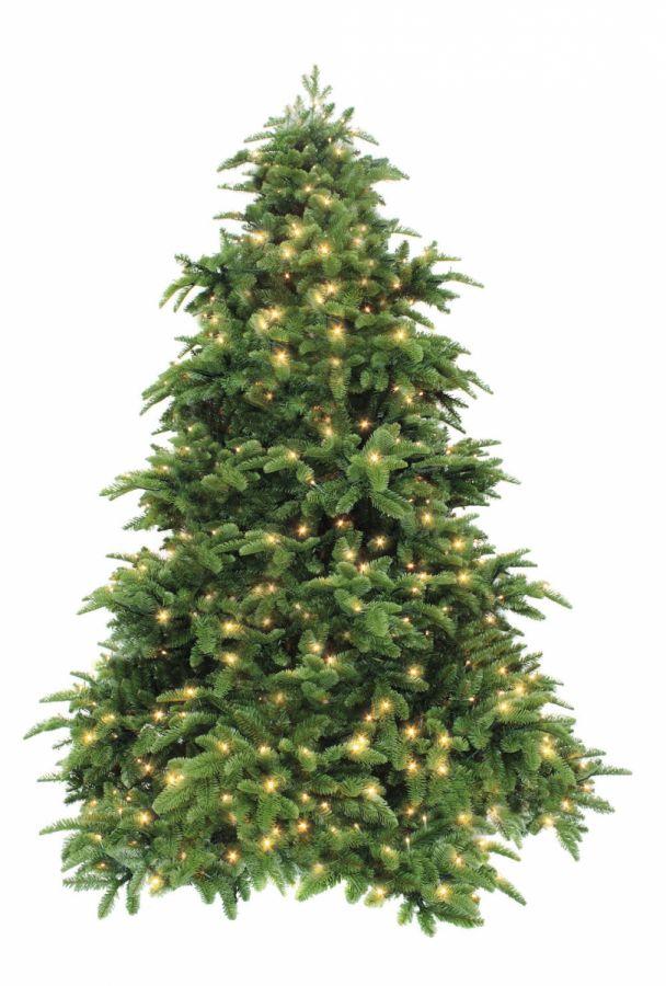 Искусственная елка Нормандия 155 см 232 лампы темно-зеленая