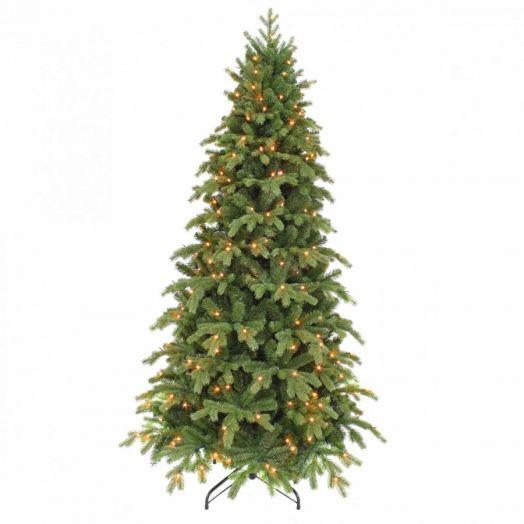 Искусственная елка Шервуд премиум стройная 230 см 288 ламп зеленая