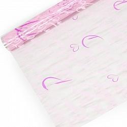 Упаковочная пленка (0,7*8 м) Парижский шик, Малиновый/Розовый, 1 шт.