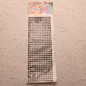 `Стразы(бусины) клеевые на листе 9*25см, Арт. Р-СТЛ0014-8