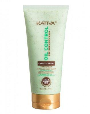 Маска «Контроль» перед мытьем шампунем для жирных волос OIL CONTROL Kativa, 200 мл