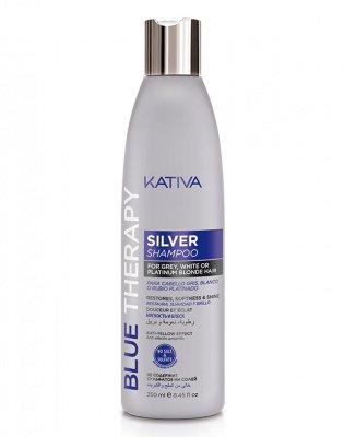 Шампунь нейтрализатор желтизны для осветленных волос Silver shampoo Kativa, 250 мл