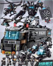Конструктор Полиция SWAT 24 в 1  Lego реплика 820 деталей