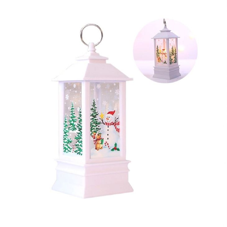Новогодний фонарик Зимнее Волшебство 13 см Снеговик