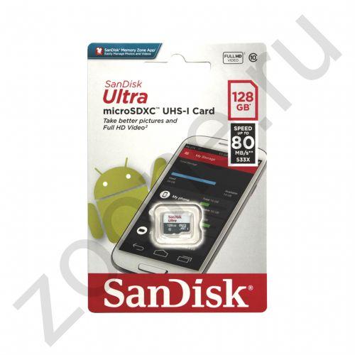 128GB microSDHC Class10 ULTRA UHS-I 80MB/S без адаптера SANDISK