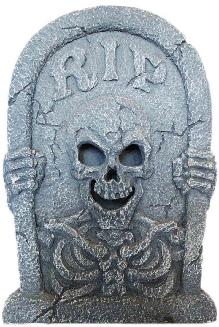 Реалистичное надгробие Скелет