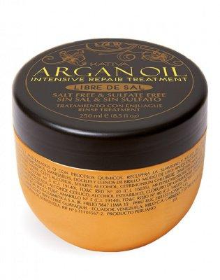 Маска для волос с маслом Арганы  восстанавливающая увлажняющая ARGAN OIL Kativa, 250 мл.