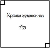 Кромка ПВХ однотонная 2*35