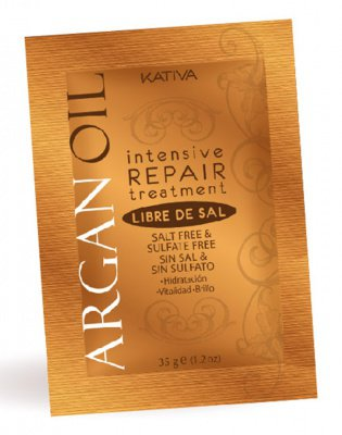 Маска для волос с маслом Арганы восстанавливающая увлажняющая ARGAN OIL Kativa, 35 гр.*12 шт.