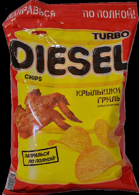 Чипсы TurboDiesel куриные крылышки гриль 75г Русскарт