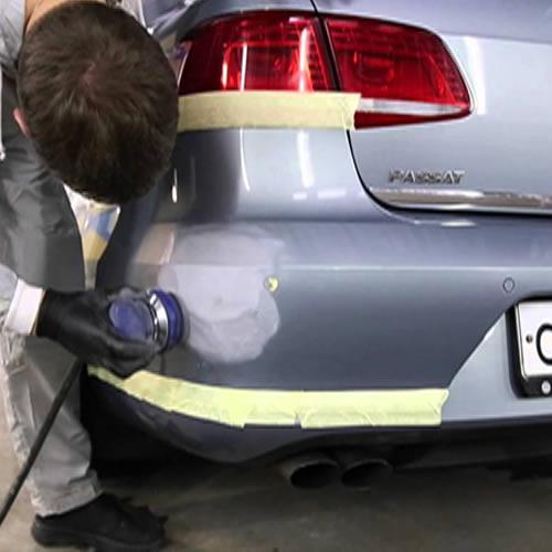 Полировка бампера авто