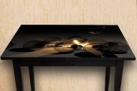 Наклейка на стол - Лампочки | фотопечать на стол в магазине Интерьерные наклейки