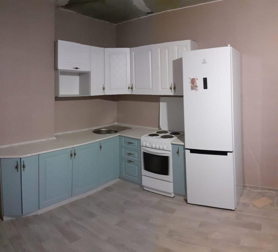 """Кухонный гарнитур """"Гранд"""" цвет белый/зелёный"""