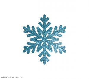 `Вырубка ''Снежинка-3, 5 см'' , глиттерный фоамиран 2 мм