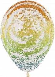 Вихрь радужный шар латексный с гелием