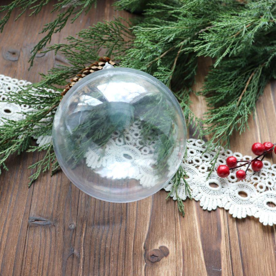 Шар пластиковый, разъемный, диаметр 11 см