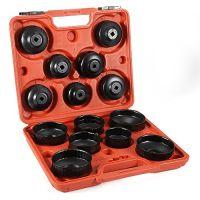 Комплект чашек для демонтажа масляных фильтров 65-100 мм, 15 шт