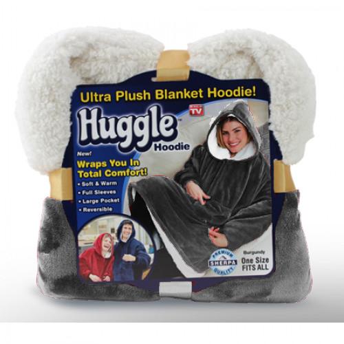 Плед С Капюшоном Huggle Hoodie, цвет серый