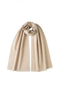 """стильный однотонный шарф 100% шерсть мериноса, расцветка """"Овсяный""""  NATURAL BRUSHED MERINO, средняя плотность 4"""
