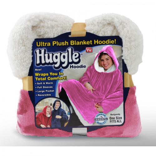 Плед С Капюшоном Huggle Hoodie, цвет розовый