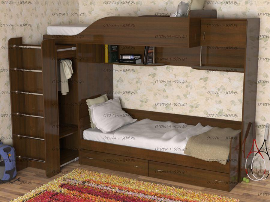 Кровать двухъярусная Дуэт-3