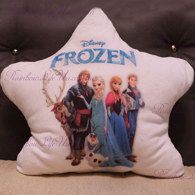 """Подушка звезда светящаяся """"Frozen"""""""