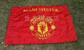 Флаг футбольный Манчестер Юнайтед 90х150 см