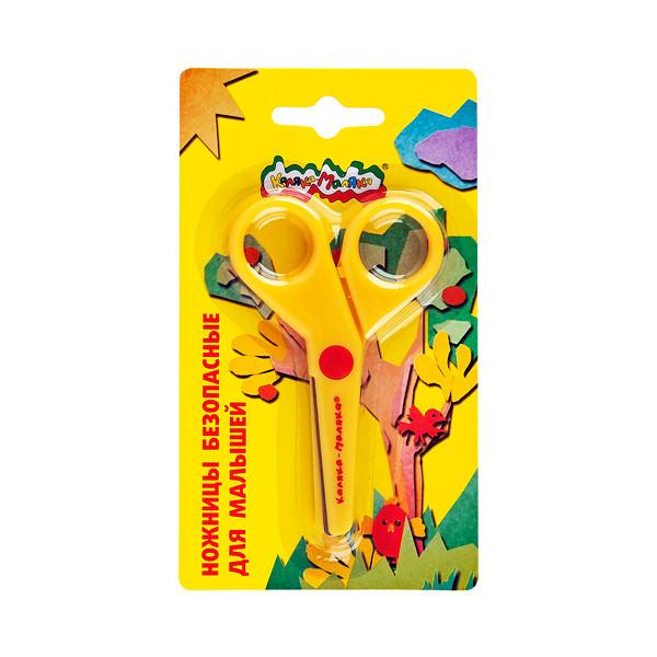 Ножницы детские Каляка-Маляка безопасные 90 мм, пластик с метал. лезвиями, европодвес 3+