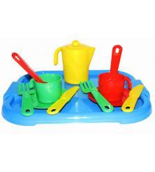 Набор детской посуды Анюта с подносом на 2 персоны
