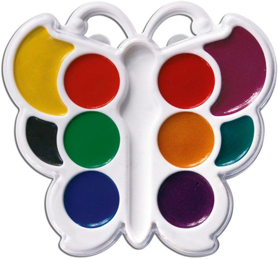 Краски акварельные 10 цвета ЛУЧ  Бабочка  пластиковая упаковка