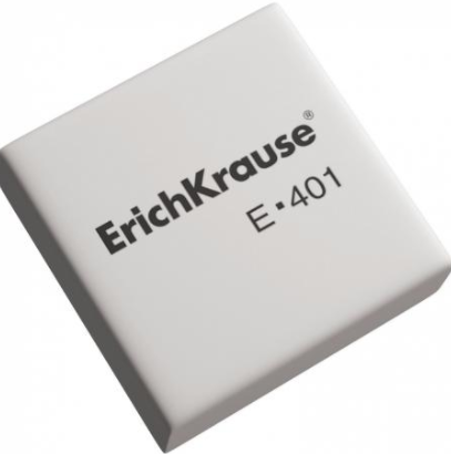 Ластик ERICH KRAUSE  ER-401  30*30*11 синтет белый