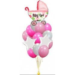 Букет из шаров Коляска для девочки 2