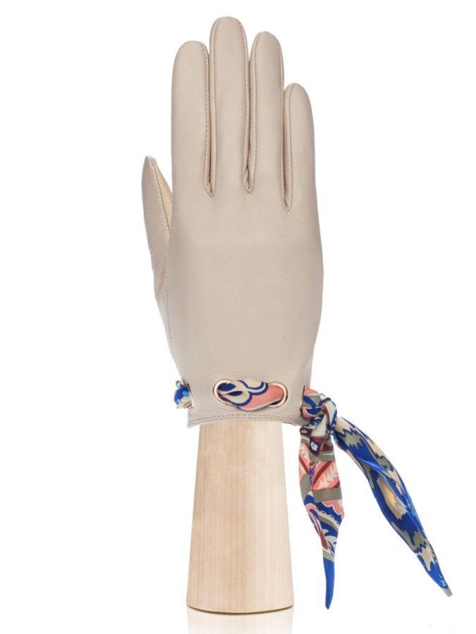Женские перчатки с шелковой лентой ELEGANZZA