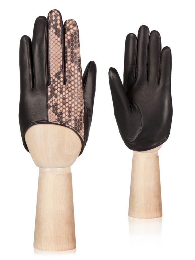 Женские перчатки из кожи питона ELEGANZZA