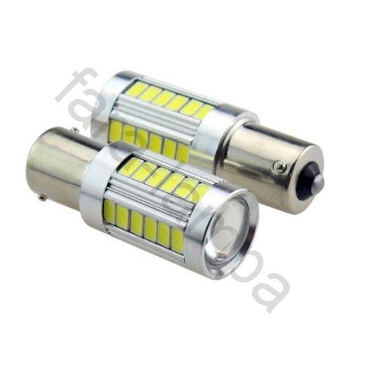 Автомобильные светодиодные лампы одноконтактные цоколь 1156 (P21W, BA15S)