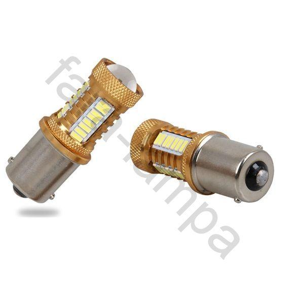 Автолампы светодиодные одно контактные 1156 (P21W-BA15S)