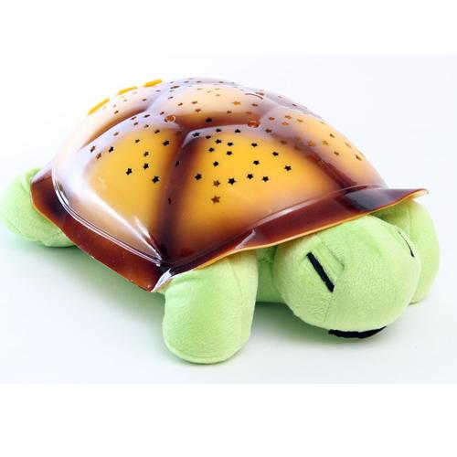 Ночник, музыкальный проектор звездного неба, Черепаха, цвет: черепахи салатовый, панциря оранжевый.