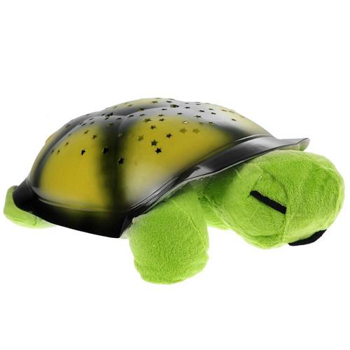 Ночник, музыкальный проектор звездного неба, Черепаха, цвет: черепахи - зелёный, панциря - зелёный.