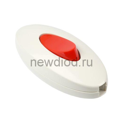 Переключатель для бра SMARTBUY проходной белый/красный 6А 250В (SBE-06-S05-wr)