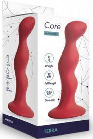 Анальная пробка Le Frivole Core Terra S красная, 12*2,5 см