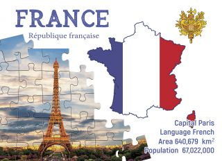 Postcard Step to France