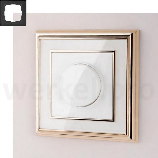 Рамка на 1 пост WL17-Frame-01 золото / белый