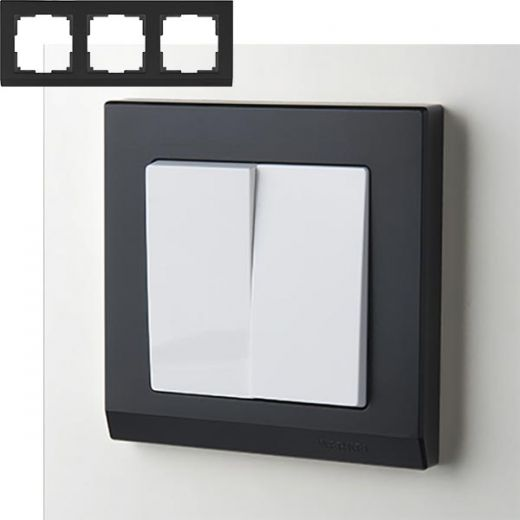 Рамка на 3 поста Werkel WL04-Frame-03 Черный