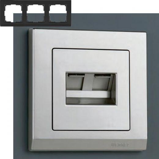 Рамка на 3 поста Werkel WL04-Frame-03 Серебряный