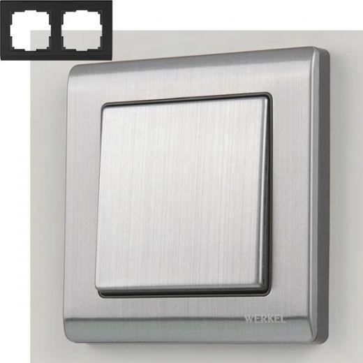 Рамка на 2 поста Werkel WL02-Frame-02 Глянцевый никель