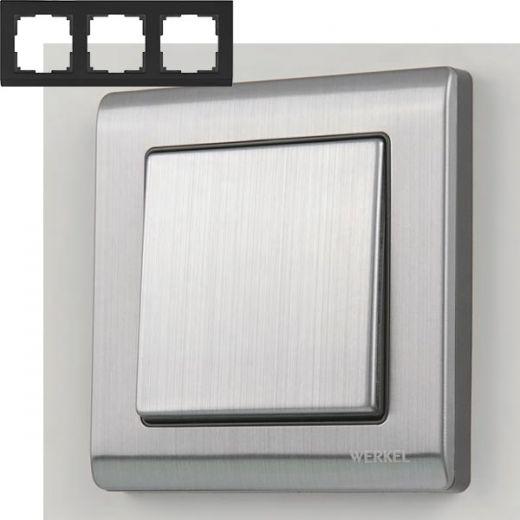 Рамка на 3 поста Werkel WL02-Frame-03 Глянцевый никель
