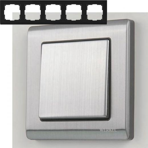 Рамка на 5 постов Werkel WL02-Frame-05 Глянцевый никель